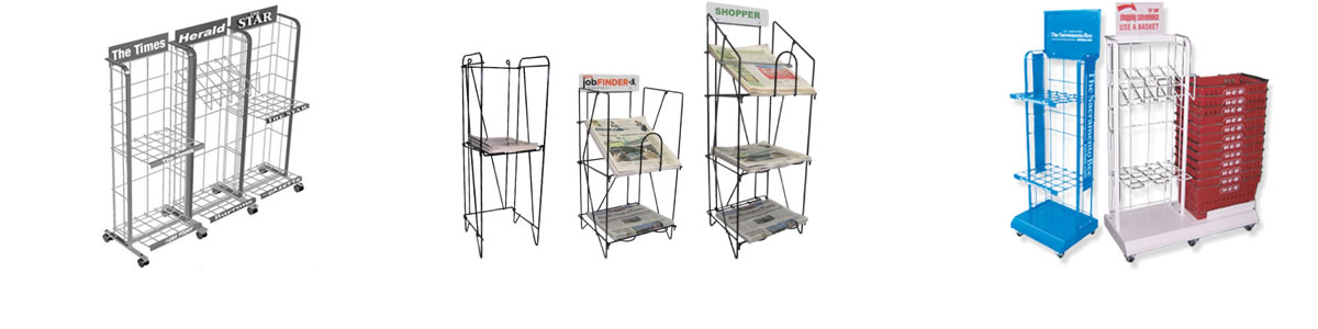Newspaper - Magazine Racks - Display Racks - Wire Racks