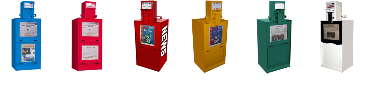 Coin Operated - Newspaper & Magazine Racks & Boxes