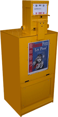 Coin Operated Newspaper rack